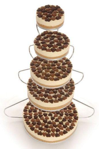 Wedding Magazine - Lookbook: alternative wedding cakes - Five tier 'Love Actually' cheesecake, £495 (serves 140), The English Cheesecake Company