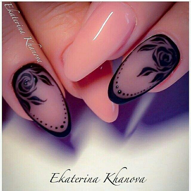 make-up, nails, nail polish, black