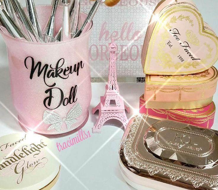 Makeup brush holder brushholder makeupbrushes pink