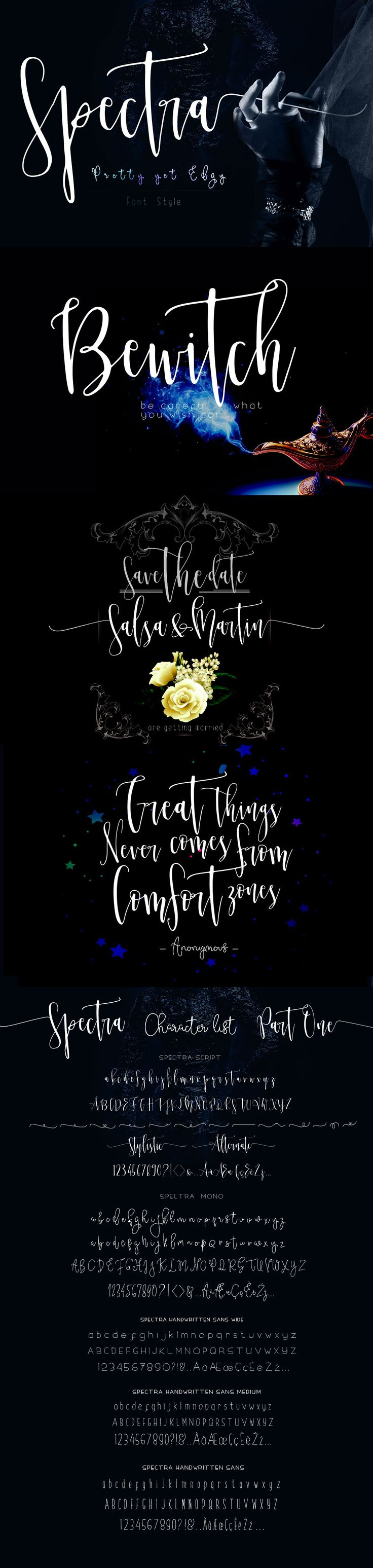 cursive fonts for wedding cards%0A Spectra Font Family  Opening Sale by mycandythemes on  creativemarket   Calligraphy