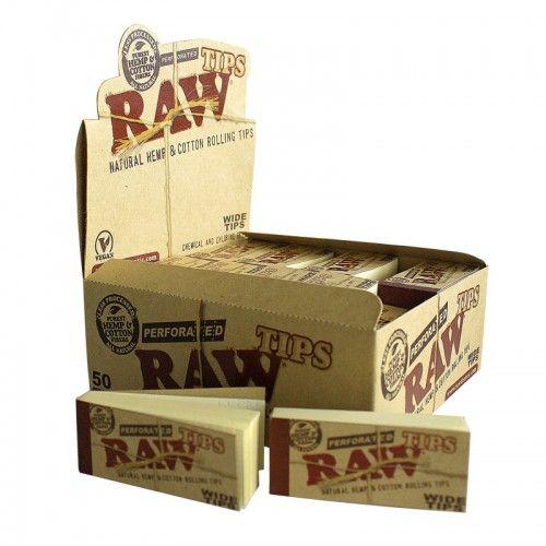 Τζιβάνα Raw Wide φαρδιά . Κάθε πακετάκι Raw wide tips perforated περιλαμβάνει 50 τζιβάνες