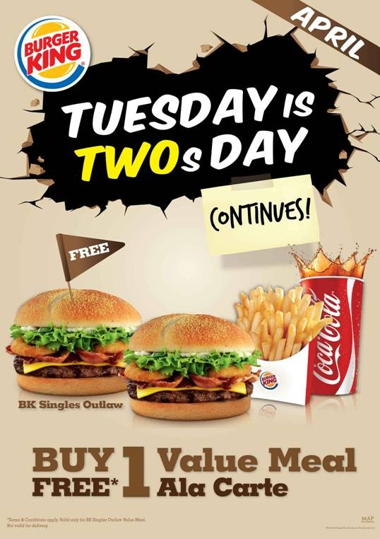 It's Burger King's Two for Tuesdays!