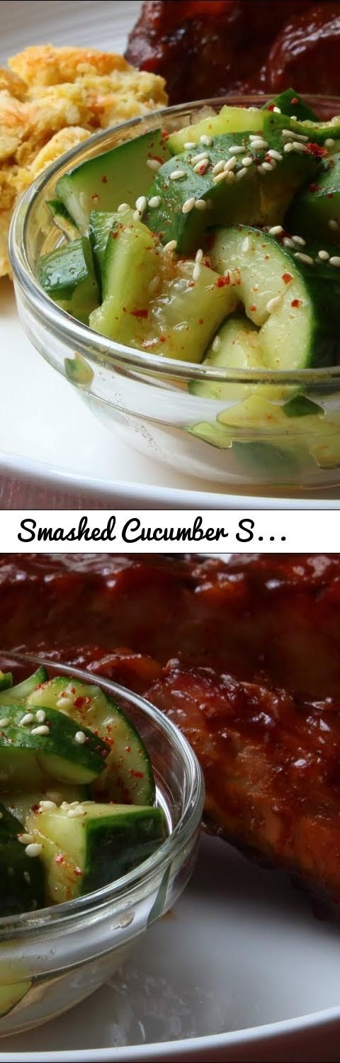 Smashed Cucumber Salad Recipe - How to Make the World's Most Addictive Cucumber Salad... Tags: Smashed, Cucumber, Salad, cucumbers, Addictive, cold, summer, easy, fast, side dish, side, vegetable, vegetarian, chef, john, foodwishes, cooking, food, appetizer, iced, chilled, chilled