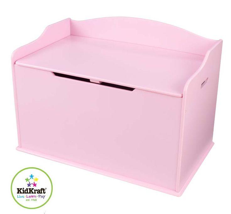 De Kidkraft Austin speelgoedkist past uitstekend in iedere kamer. De kist kan gebruikt worden als bank voor extra zitplaatsen, en onder de klep met veiligheidsscharnieren is er ruimte genoeg voor bijvoorbeeld speelgoed. Dit product kan gepersonaliseerd worden. Hiervoor kunt u contact opnemen met onze klantenservice.