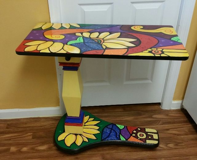 recycled hospital bed table