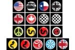 Mini Cooper Badge Dome Style Magnetic Various A 3 Inch