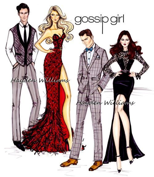 haydenwilliamsillustrations:     Gossip Girl by Hayden Williams    I will miss this show!