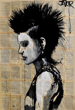 "Saatchi Online Artist Loui Jover; Drawing, ""lisbeth"" #art"