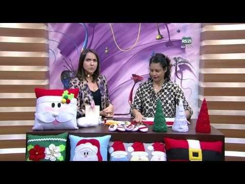 Mulher.com - 22/10/2015 - Almofada de Papai Noel - Miriam Almiro PT1 - YouTube