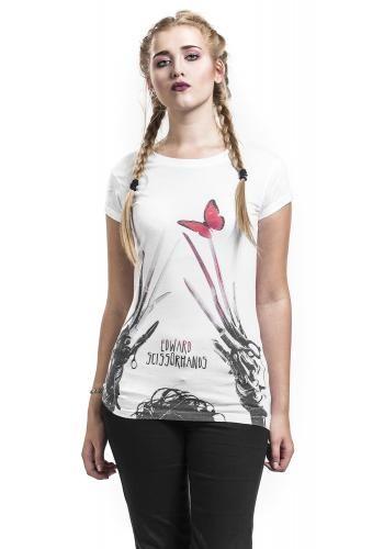 Red Butterfly - T-Shirt von Edward mit den Scherenhänden