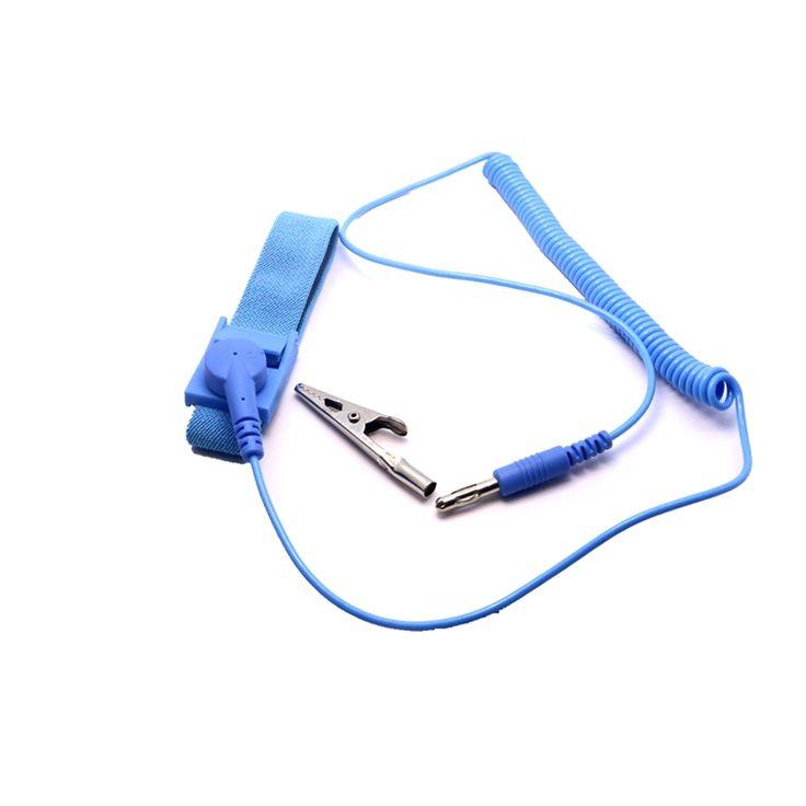 PU Blue Discharge Anti-Static AntiStatic Wrist Strap Band