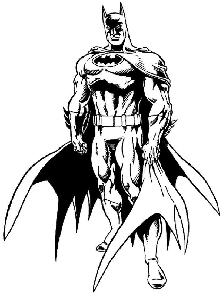 print batman coloring pages