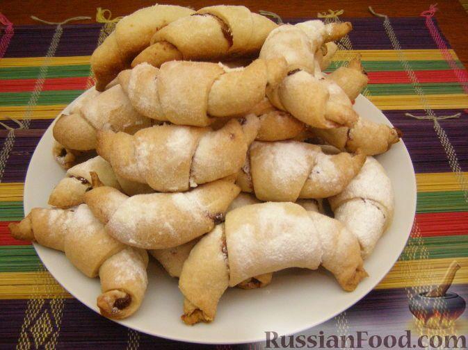 Рецепт: Домашние рогалики с повидлом на RussianFood.com