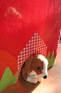 tafeltent: een luikje voor de hond (of kat of varken ;-) )