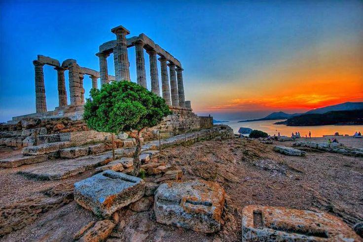 Greece Cape Sounio Temple of Posidon