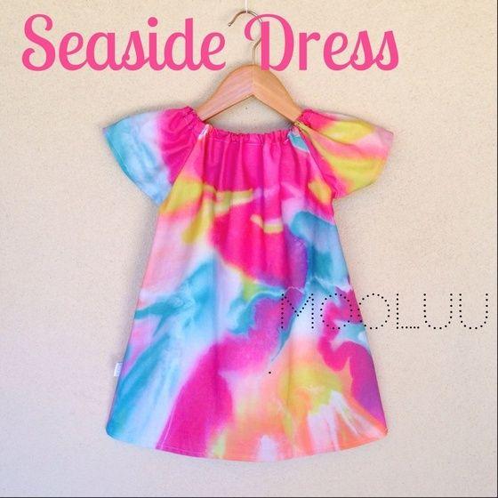 Image of MOOLUU + MILLAY PRE ORDER SEASIDE DRESS SUNSET SORBET