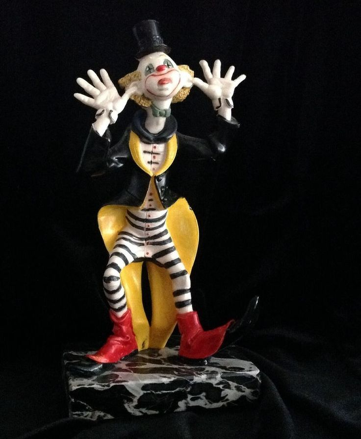 Vintage Fontanini Resin Circus Clown Depose Italy 943