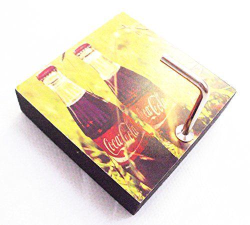 Agility Bathroom Wall Hanger Hat Bag Key Adhesive Wood Hook Vintage Twin Coke Bottles Photo