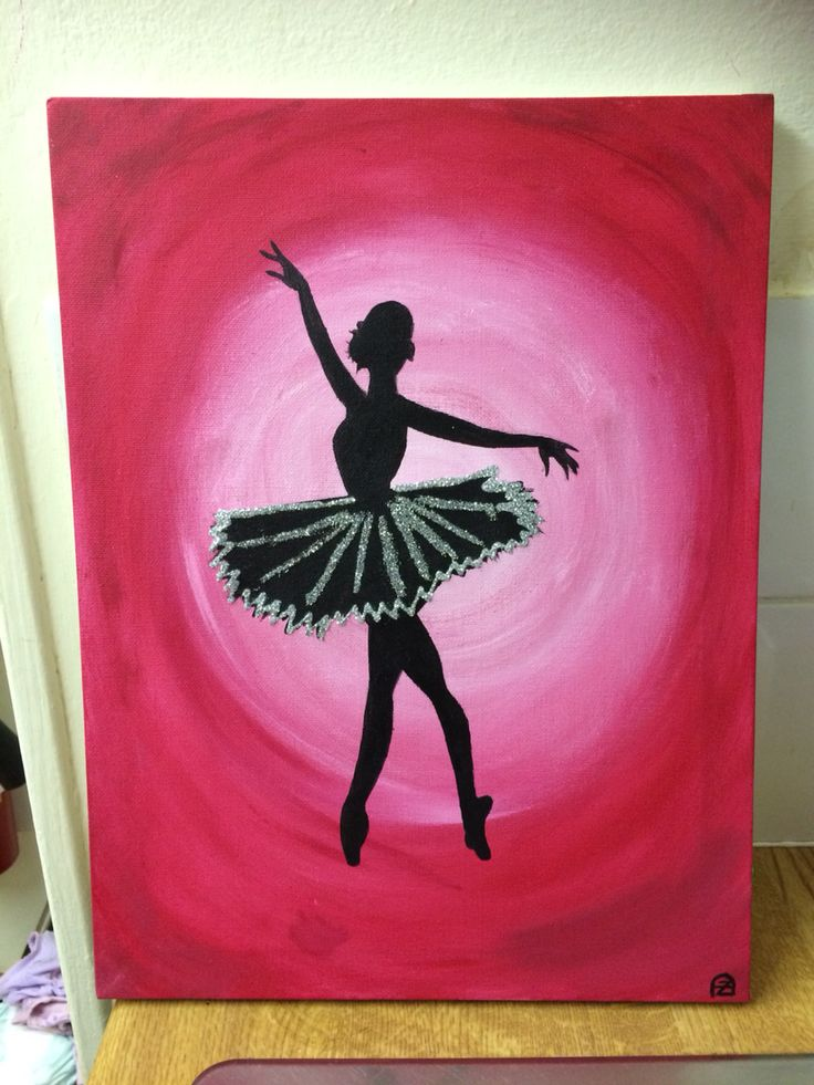 Ballerina silhouette  acrylic on canvas  £10  Take a look at my art page on Facebook..  https://m.facebook.com/zoes.artwork.1?ref=bookmark