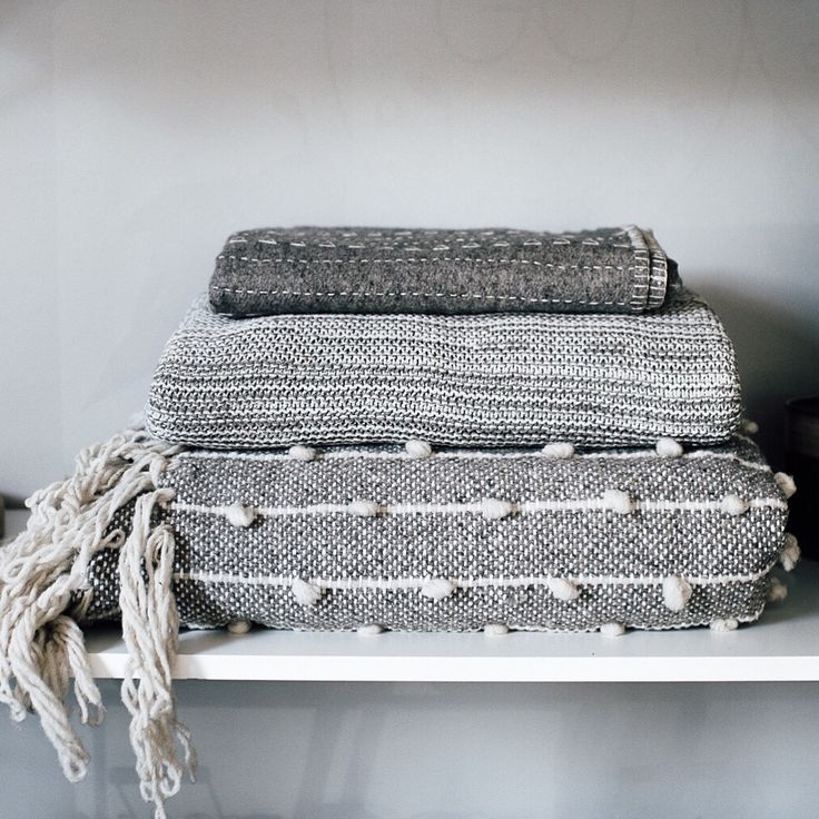 Grey scale of blankets! Mexchic And ByMolle.   Photo: Paperbag