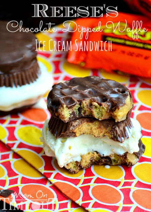 sunglasses chrome Reeses ChocolateDipped Waffle Ice Cream Sandwich  Recipe