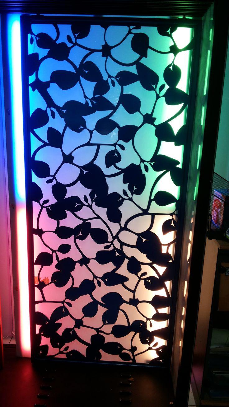 Lamp Shade Proyek Hunian Sunter,  Neon Box Acrilik dengan Laser cutting