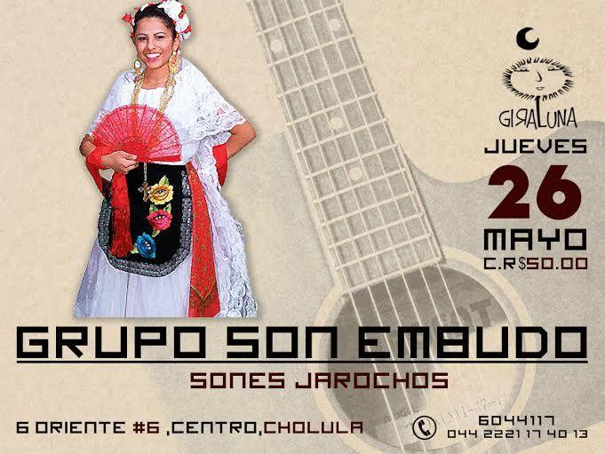 """Jueves 26: """"Sones jarochos"""" con Grupo Son Embudo."""