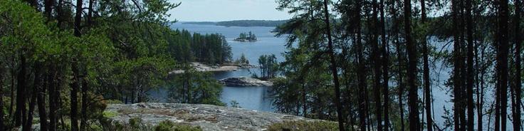 Voyageurs National Mark, MN.    Overlooking Anderson Bay, Rainy Lake