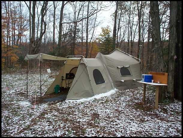 14 ft x 16 ft sq ft) semi dome tent with 6 ft x 9 ft vestibule sq ft) attached; comes with stove pipe jack ... & Best 25+ Tent stove ideas on Pinterest | Tent with stove Portable ...
