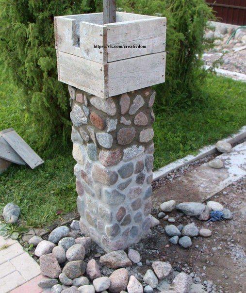Фундамент забораПоскольку бутовый камень имеет внушительный вес, то вся конструкция забора нуждается в надёжном фундаменте. Как правило, под такие соо...