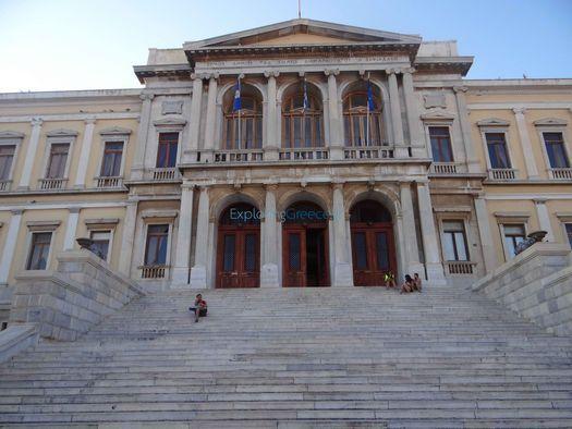 το Δημαρχείο στην Ερμούπολη