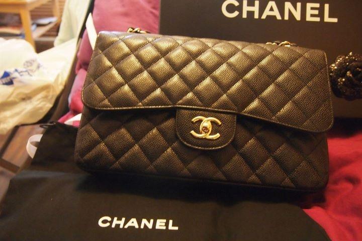 Chanel Jumbo Caviar Flap