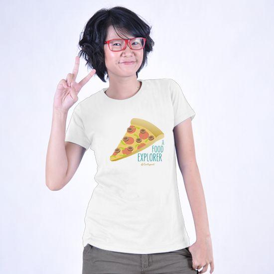 Food Explorer dari Tees.co.id oleh Kaos Ceritaperut