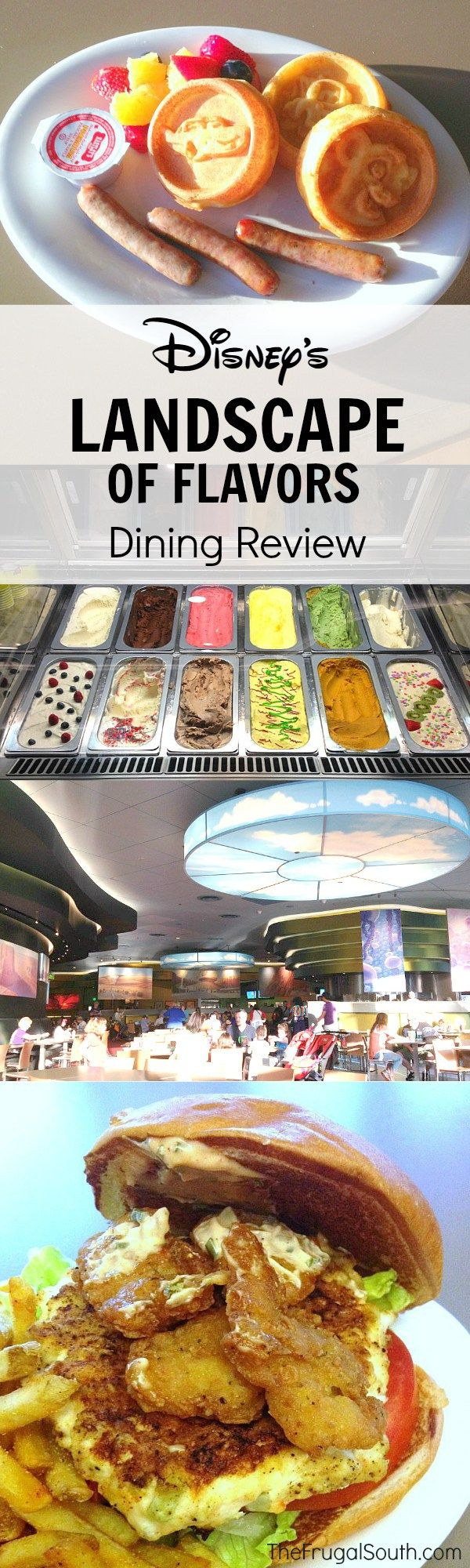 Can't miss quick service dining at Art of Animation Resort. Landscape of Flavors Disney dining review.