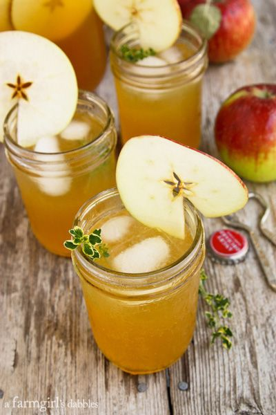 Harvest Apple Sangria with Bourbon and Thyme - afarmgirlsdabbles.com #sangria #apple #bourbon @farmgirlsdabble