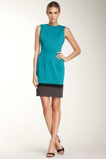 Calvin Klein Colorblock Hem Seamed Shift Dress by Blowout on @HauteLook