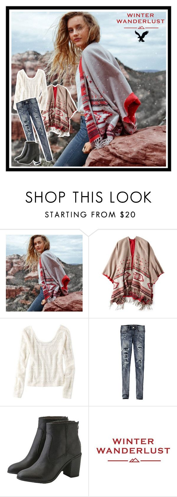 """""""Winter Wanderlust with American Eagle: Contest Entry"""" by pinky03 on Polyvore featuring American Eagle Outfitters and aeostyle"""