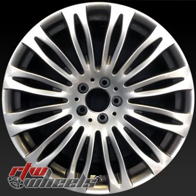 "Mercedes S Class oem wheels for sale 2015-2017. 20"" Front Silver rims 85504 - https://www.rtwwheels.com/store/shop/20-mercedes-s-class-oem-wheels-for-sale-silver-rims-85504/"