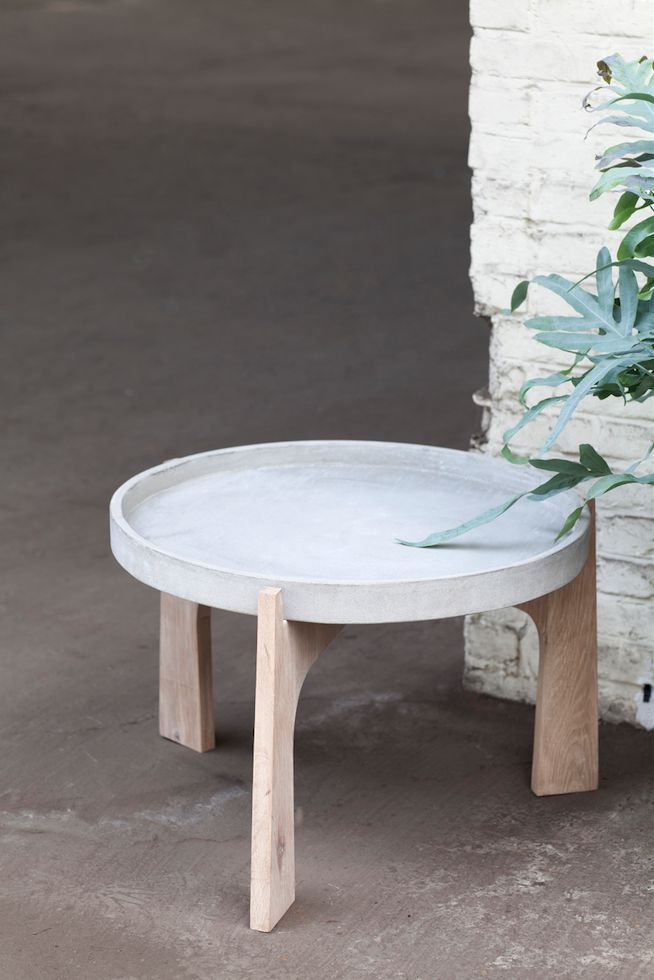 Concrete table by Renate Vos for Serax
