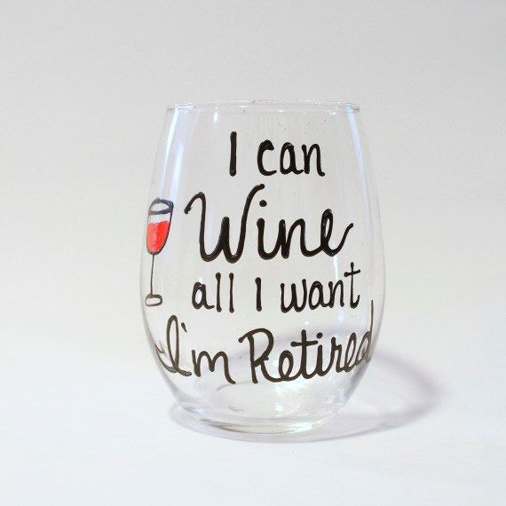 Best 25 retirement gifts for mom ideas on pinterest fun a unique retirement gift for women this hand painted retirement wine glass is the perfect gift negle Images