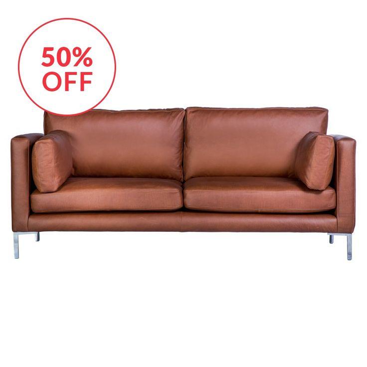 Conrad shop dalston sofa in balmoral leather