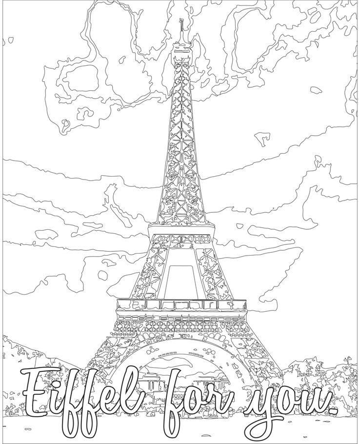 403 best bria images on pinterest | coloring pages, animals and ... - France Eiffel Tower Coloring Page