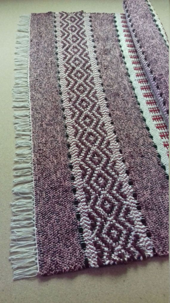 Cotton rug is important bedroom decor element. I named this rug as Stylish Living Room Rug. I did this because this rag rug is with outstanding vivid pattern and color combination . This handwoven rug is hand woven on looms. Colors. Light grey, dark red, deep red with tiny pink and a hint