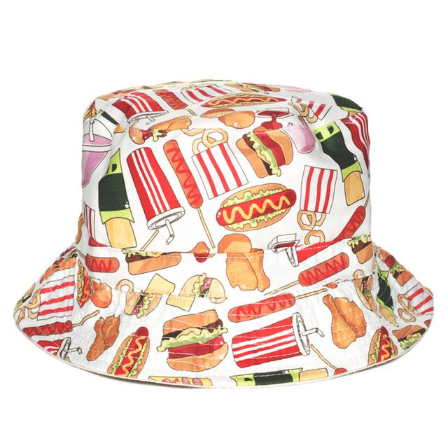 We love it and we know you also love it as well Fashion Flat Bucket Hat Men Women 3D Printed Fast Food Bob Beach Hip Hop sombrero pescador Panama Girls just only $5.37 with free shipping worldwide  #womanaccessories Plese click on picture to see our special price for you