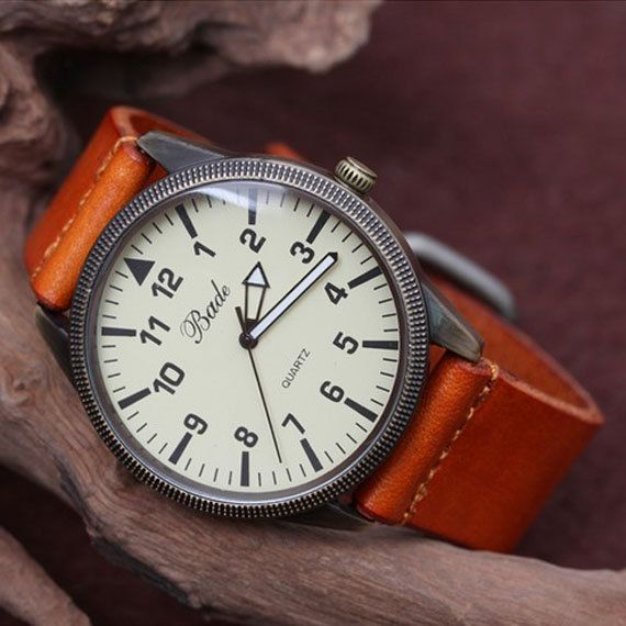Men Watch - Leather Men Wrist Watch. $15.50, via Etsy.