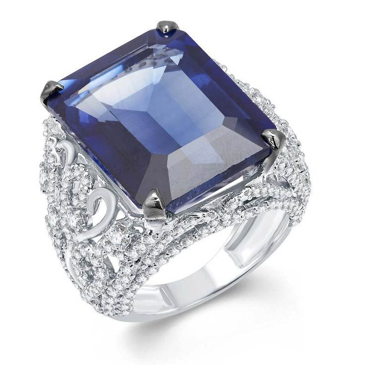 Blue Hydro Signature Ring Product Code : ADR1400013  Type : Blue Hydro, Swarovski  Color : Blue   #SilverRingsForWomen, #SilverRingsForGirl, #BuySilverRingsOnlineIndia,   #SilverRingsShopping, #SilverRingsShoppingOnline, #DesignerRings,   #DesignerSilverRingsOnline, #BuyDesignerSilverRings