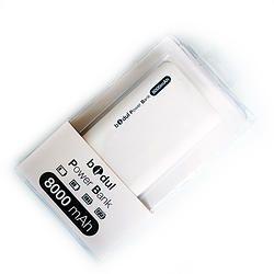 Power Bank 8000 MA Blanche Soft Touch Ne tomber plus en panne de batterie, avec la power bank de chez bidul, recharger vos smartphone, tablette, GPS, casque, caméra sport, appareil photo. La power bank bidul avec ces 8000mAh permet au moins 5 recharges complète de votre smartphone.