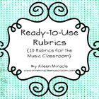 Are you looking for rubrics to use in your music classroom? Is your school district requiring you to have more data regarding student growth? For t...