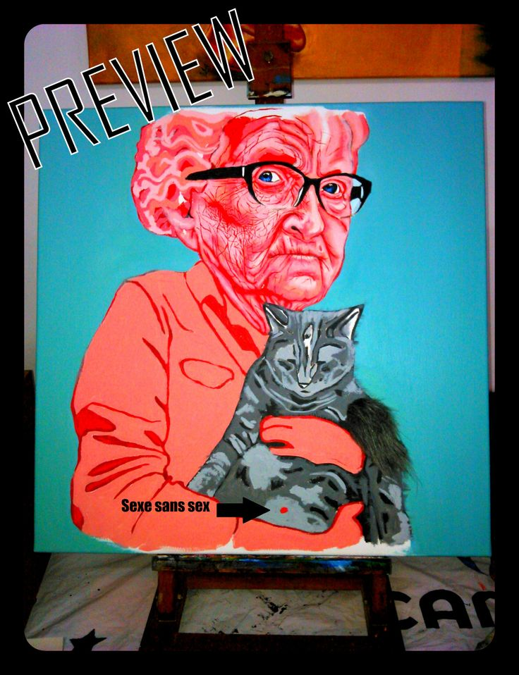 See #LalaDrona 's newest piece...Sexy cat lady http://basedonafact.wordpress.com/2014/06/08/preview-of-newest-piece/ #art #paris #animals #cat #sex #humor