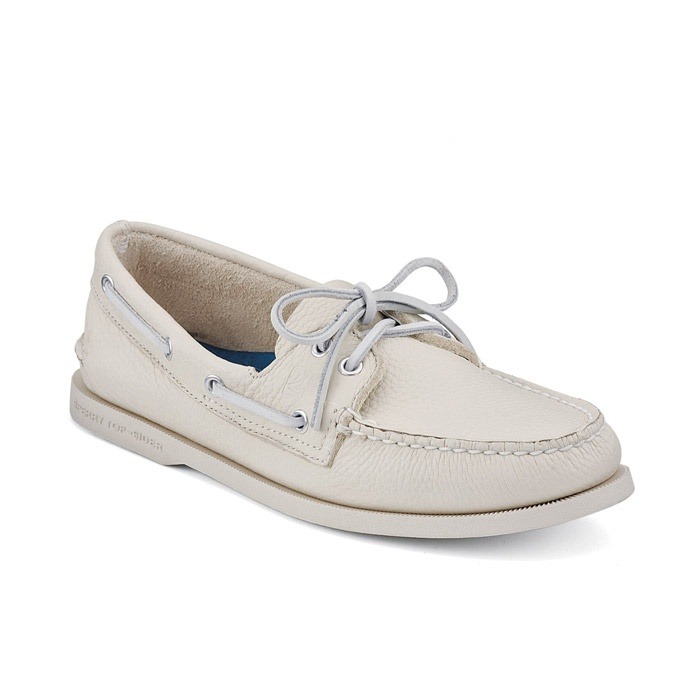 White Boat shoes..